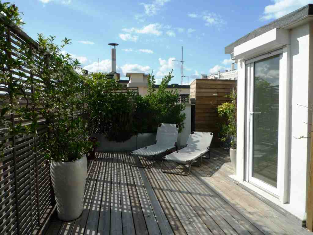 appartement, architecte, terrasse